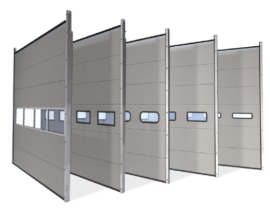 Thermo 40 mm sectional door U value 5000 x 5000 mm 1.02 W/m²K  sc 1 st  Novoferm & Thermo insulated industrial sectional doors | Novoferm Group